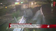 Highways flooded across metro Detroit 8-11-2014...crazy day!