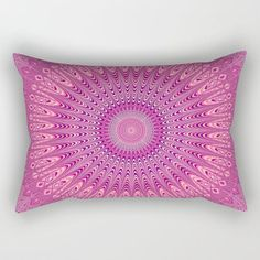 Pink Mandala Rectangular Pillow by David Zydd Mandala Pattern, Mandala Design, Mandala Art, Mandala Throw, Funny Pillows, Throw Pillows, Pink Stars, Pillow Design, Decorative Bowls