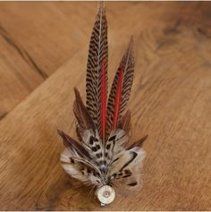 Small Feather Cartridge Brooch