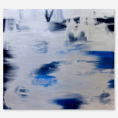 Ice - painting in the style abstract art.  The work is done with oil paints on canvas on stretcher. The ends are painted with acrylic paint with the final multi-layer coating with blind acrylic varnish.  Size: height - 90 cm, width - 100 cm, depth - 2 cm (35.4 H x 39.4 W x 0.7 in).