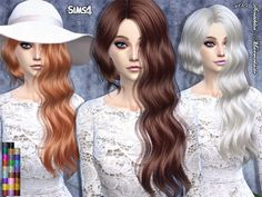 The Sims Resource: Marmelade hair by Sintiklia • Sims 4 Downloads