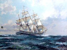 """USS Constitution,"" by John Stobart"