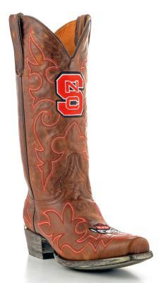 NC State Wolfpack game day boots! I've gotta have these!!