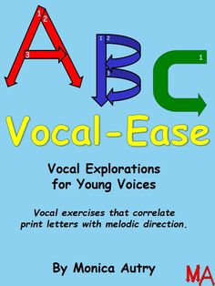 Vocal exercises that correlate  print letters with melodic direction.