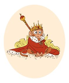 a cute monkey king; i totally messed up the sketch_dailies prompt today (monkey king.. the chinese fantasy film lmao) but whatever! i drew a monkey with bananas. i tried.