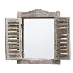 Espelho Com Moldura De Madeira Formato - Americanas.com