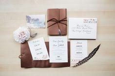 Custom Invitations Big Sur, CA Wedding by Prim & Pixie