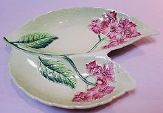 Example of a different shape of plate for the Hydrangea pattern. Carlton Ware, Pink Hydrangea, Different Shapes, Cup And Saucer, Tea Pots, Plate, Pottery, High Class, Tableware
