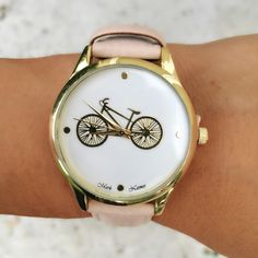Nude Bicycle Watch This cute bicycle watch is perfect for those autumn and winter vibes! Looks great paired with gold rings since it is nude and versatile with gold accents❤️   bundles 2+ items get 10% off ❤️Follow me on IG: @mstanyakara Follow me on Snapchat: @tanyakara Tanya Kara Jewelry