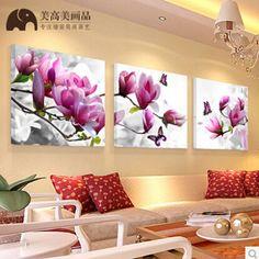 Três ordem tirar clássico flor pintura a óleo de impressão pintura em tela imagem adorno sala de estar corredor