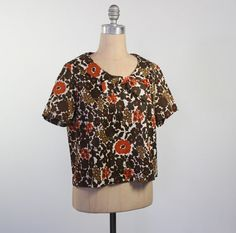 vintage 60s mod floral top with bow collar / by dustyrosevintage, $44.00