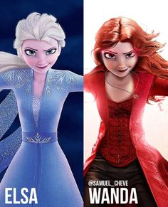 Artist Transforms Disney Characters Into Marvel And DC Superheroes & Villains - Marvel & DC