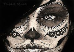 Day of the Dead Girl Five ATC by TempestErika.deviantart.com on @deviantART