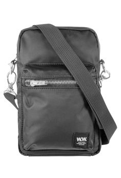WOOD WOOD RENA SHOULDER BAG. #woodwood #bags #shoulder bags #polyester Leather Crossbody, Crossbody Bag, Zip Puller, Pouch Bag, Black Cross Body Bag, Valentino Garavani, Blue Bags, Bag Making, Luxury Branding