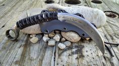Forged Wrench knife The Claw by RavenStagDesign on Etsy