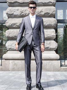 2016 Groom Tuxedos Groomsmen Grey Side Vent Slim Fit Best Man Suit Wedding/Men'S Suits Bridegroom Custom Mad Jacket+PantsFs0003 White Suit Cheap Suits From Bestoffers, $93.57| Dhgate.Com