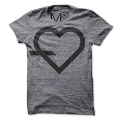 Simple Tee Heart Logo Gray now featured on Fab.