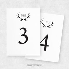 DIY Table Numbers Printable Wedding Table Cards by BrandConceptCo, $10.00