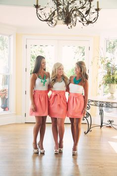 Frill offers clients the ability to custom design pieces for sorority recruitments with a percentage of all proceeds going to charity.
