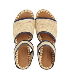 Enjoy an additional 60% off sale prices for our Summer Sale! Ahmed Raffia Slip-On Sandal | Calypso St. Barth