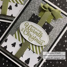 Along with using the Snowflake Sentiments Bundle, adding bling to Christmas Club Note Cards, was the perfect touch! Simple Christmas Cards, Homemade Christmas Cards, Xmas Cards, Homemade Cards, Holiday Cards, Christmas 2016, Christmas Time, Stampin Up Weihnachten, Stampin Up Karten