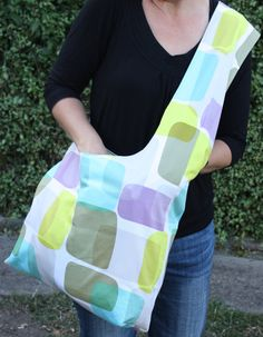 Sling tote bag in Prints Charming fabric by teapotandsnail on Etsy, $60.00