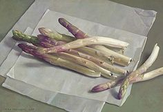 Henk Helmantel (Dutch, (white asparagus, a typical Dutch vegetable which grows underground). Fruit Painting, China Painting, Light Painting, Painting & Drawing, Still Life 2, Realistic Paintings, Amazing Paintings, Oil Paintings, European Paintings