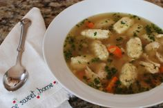(My Grandma made something similar, this is a little more detailed.. Cream of wheat, dumpling soup)   Chicken and Dumpling Soup