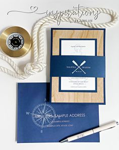 Nautical wedding invitations for your yacht club wedding! Mailing Envelopes, Addressing Envelopes, White Toner, Nautical Wedding Invitations, Boat Wedding, Nautical Design, Envelope Liners, Yacht Club, Ink Color