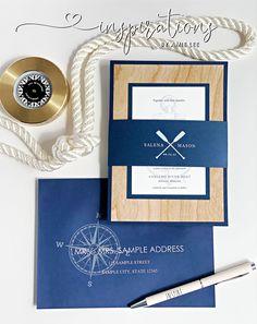 Nautical wedding invitations for your yacht club wedding!