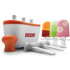 La machine à glaces et sorbets Quick Pop Maker Zoku vous accompagne dans la confection de vos glaces maison. Elle est composée d'un bloc accumulateur de froid et de 6 bâtonnets. Vous obtiendrez 6 bâtonnets de glace en seulement 7 à 9 minutes sans sorbetière. Une innovation incroyable pour préparer vous-même vos glaces.