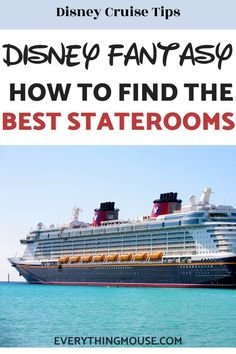 Disney Fantasy Cruise Tips. How do you get the best stateroom? You can make sure you know which the very best staterooms are on the Disney Fantasy and Dream with this insider guide, Disney Dream Cruise Ship, Disney Fantasy Cruise, Disney Ships, Disney Vacation Club, Disney Travel, Disney Cruise Line, Disney World Secrets, Disney World Tips And Tricks, Carnival Cruise Reviews