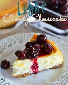 Perfectly light and creamy cherry cheesecake - you'll never guess the secret ingredient in this recipe!