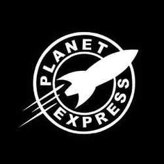 "5/"" Planet Express Futurama Decal Sticker Car Truck Window Bumper USA tool box"