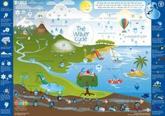 "Ahead of Friday's World Water Day, take a look at this ""Water Cycle"" infographic. See more UN-Water World Water Day materials here: http://www.unwater.org/water-cooperation-2013/home/en/"