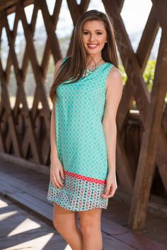 """Crossing The Border Dress, Mint"" 