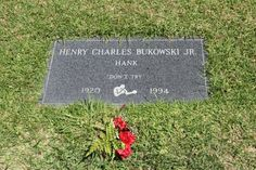 """Charles Bukowski - Author, Poet. Born in Germany, he was a prolific underground writer who used poetry and prose to depict the depravity of urban life in American society. He came to the United States with his parents at the age of two and detailed his coming of age in the autobiographical novel, """"Ham on Rye"""" (1982)."""