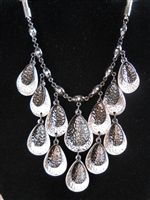 Drops Chandelier Necklace with matching earrings.