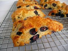 Blueberry Buttermilk Scones. I've never made scones before and I really want to try.