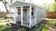 A She Shed in the Sunny South Backyard Cottage, Backyard Sheds, Outdoor Sheds, Backyard House, Garden Sheds, Garden Tools, Shed Office, Backyard Office, Craft Shed