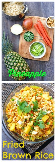 FOOD - Sweet and savory whole grain Pineapple Fried Brown Rice packs fruits AND veggies into one main dish. http://www.superhealthykids.com/pineapple-fried-brown-rice/