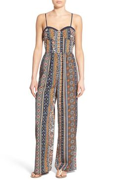 Band of Gypsies Print Sweetheart Jumpsuit available at #Nordstrom