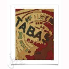 Tabasco Hot Sauce Acrylic Painting Art Print