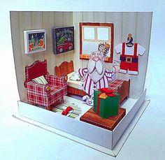 Quarto do Papai Noel - Escultura em Papel (Paper Sculpture) criado e produzido pelo Ateliê do Vlady