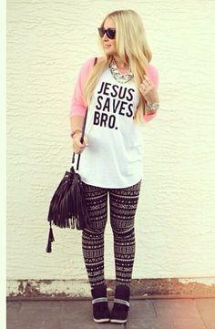 Jesus Saves Bro- this T-shirt