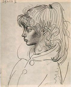 Pablo Picasso. Portrait of Sylvette David 11, 1954