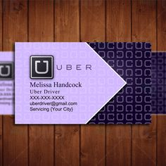 Uber Business Card - Professional Uber Driver by CreativeEtsyDesigns on Etsy Uber Business, Business Card Maker, Unique Business Cards, Professional Business Cards, Business Card Design, Uber Hacks, Uber Driving, Driving Force, Uber Card