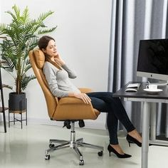 High Back Office Chair, Guest Room Office, Home Office Decor, Office Furniture Stores, Furniture Deals, Adjustable Office Chair, Conference Room Chairs, Buy Chair