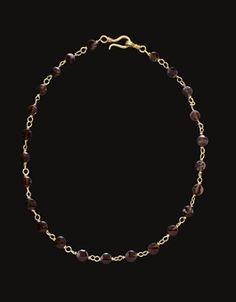 Byzantine Jewelry, Medieval Jewelry, Ancient Jewelry, Bohemia Jewelry, Roman Jewelry, Garnet Necklace, Royal Jewels, Jewelery, Fashion Jewelry