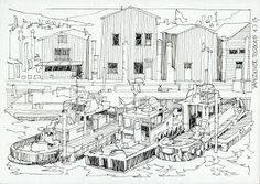 JR Sketches: Seattle & Vancouver 2 - July 2013